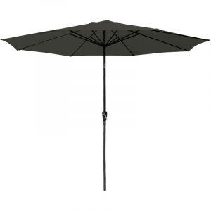 Happy Garden Parasol droit HAPUNA rond 3,30m de diamètre gris
