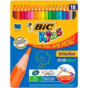 Bic Boite métal 18 crayons de couleur - Kids