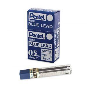 Pentel PPB Etuis de 12 mines bleues pour Porte-mines 0,5 mm Bleu