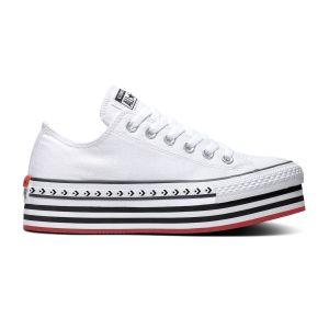 Converse Chuck Taylor All Star PlatForm Layer toile Femme-35-Blanc