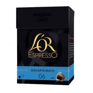 L'OR Espresso 10 capsules décafeiné pour Nespresso