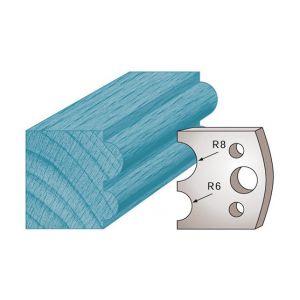 Diamwood Platinum Jeu de 2 fers profilés Ht. 40 x 4 mm boudin double M51 pour porte-outils de toupie