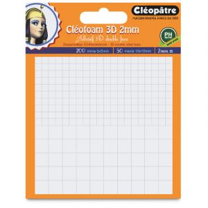Cleopatre Pastilles de mousse adhésive Cléofoam - carrés 3D 2 mm - 250 pcs