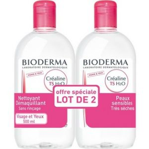 Bioderma Créaline TS H2O - Solution micellaire - 2 x 500 ml