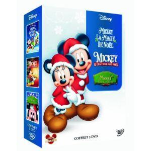 Coffret Mickey Noël 2 - Mickey, la magie de Noël + Mickey, il était une fois Noël + Mickey, il était deux fois Noël