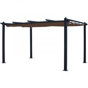 Happy Garden Pergola autoportante 3×4m CASSIS taupe - structure aluminium