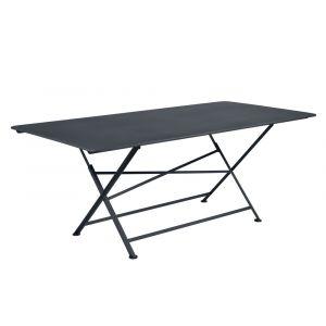 Fermob Table pliante rectangulaire 90x190 carbone CARGO