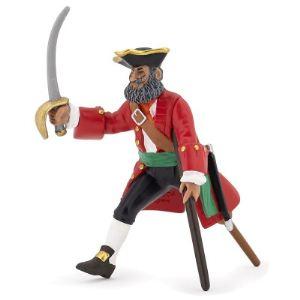 Papo 39471 - Capitaine jambe de bois rouge