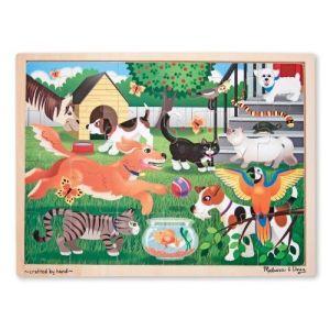 Melissa & Doug Puzzle en bois : 8 animaux domestiques jouant