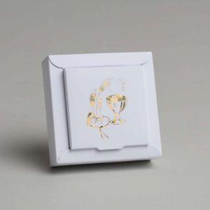 Boîte à dragées communion Calice Doré