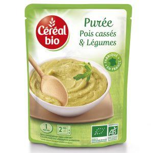 Cereal Plat Cuisiné Purée Pois Cassés/légumes Bio - Le Sachet De 250 G