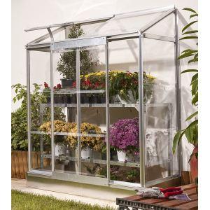 Chalet et Jardin Veranda 24 - Serre de jardin adossable en alu et polycarbonate 0,90 m2