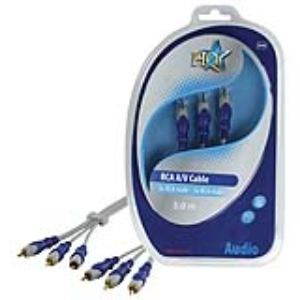 Nds HQSA-080-5.0 - Câble 3x RCA males / 3x RCA males