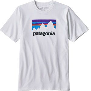 Patagonia Shop Sticker Responsibili T-Shirt, Homme XL Blanc