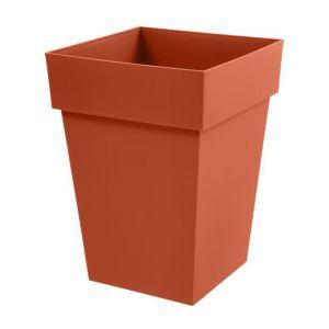 EDA PLASTIQUES Pot mi haut Toscane 39 x 39 x 53 cm Orange potiron