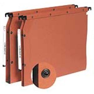 L'Oblique AZ Paquet de 10 dossiers suspendus pour armoire en karft (fond : 15 et 30 mm)
