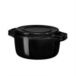 Kitchen Aid Cocotte ronde en fonte noir, diam 24cm