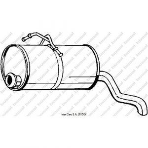 Bosal Silencieux arrière 135-001