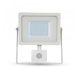 V-TAC Projecteur LED 30W à détecteur (150W) | Noir - Blanc Froid (6000K)