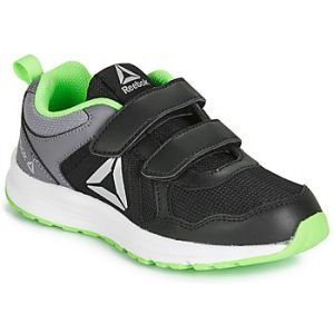 Reebok Chaussures running Almotio 4.0 2 Velcro - Black / Cold Grey 5 / Solar Green - Taille EU 30 1/2