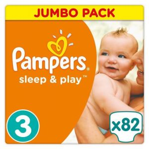 Pampers Sleep & Play taille 3 (5-9 kg) - 82 couches