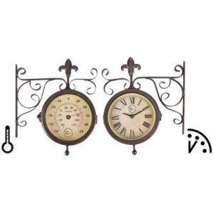 Esschert design Horloge de gare avec thermomètre TF005