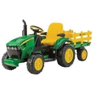 Peg Perego Tracteur électrique John Deere avec remorque
