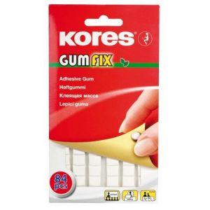 Kores K31600 - Pâte adhésive blanche Gumfix, sans solvant, 84 morceaux, 50g