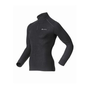 Odlo Shirt ML 1/2 zip X-WARM T-shirt manches longues homme Homme black FR: S (Taille Fabricant: S)
