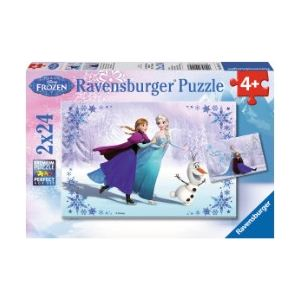 Ravensburger Coffret de 2 puzzles La Reine des Neiges (24 pièces)