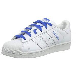 Adidas Superstar J, Chaussures de Gymnastique Mixte Enfant, Blanc