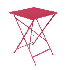 Fermob Table pliante ronde bistro en acier coloris rose Ø 57 H 74 cm