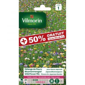 Vilmorin Graines Mélange Fleurs Gazon Japonais +50% Gratuit