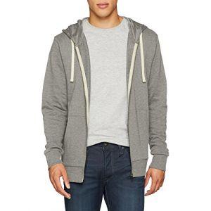 Jack & Jones Sweatshirts Jack---jones Eholmen Sweat Zip Hood - Light Grey Melange - L