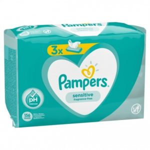 Pampers Lingettes bébé sensitive pack x156