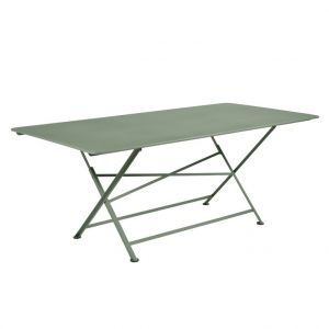 Fermob Table pliante Cargo coloris vert cactus de 190 x 90 x 74 cm