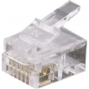 Dexlan Connecteur 6/6 RJ12 - sachet de 1000