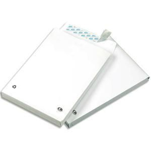 Gpv 2134 - Sac à soufflet Pack'n Post 260x330x30, 130 g/m², coloris blanc - boîte de 100