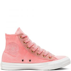 Converse Baskets montantes CHUCK TAYLOR ALL STAR SUMMER PALMS HI rose - Taille 36,37,38,39,40,41,35