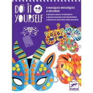 Djeco Kit créatif Masques mosaïques Animaux de jungle