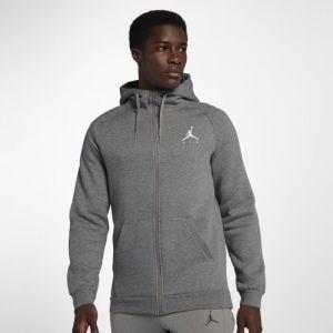 Nike Sweat à capuche entièrement zippé en tissu Fleece Jordan Jumpman Air pour Homme - Gris - Taille M