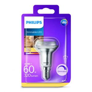 Philips lighting LED E14 réflecteur 4.3 W = 60 W blanc chaud (Ø x L) 50 mm x 84 mm EEC: classe A+ (A++ - E) 1 pc(s)