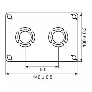 Watts Industries Sortie de cloison double à glissement Entraxe 50 mm PER Ø 12 mm F 1/2' Robifix industrie