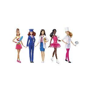 Mattel Coffret 5 poupées Barbie métiers