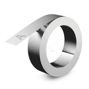 Dymo 32500 - Ruban acier inoxydable sans film adhésif, 12mm x 6,40m