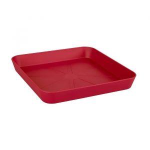 Loft URBAN Soucoupe carrée pour pot de fleur - 22 x 22 cm - Fruits rouges - Contre les tâches d'humidité sur la table ou les dalles de la terrasse