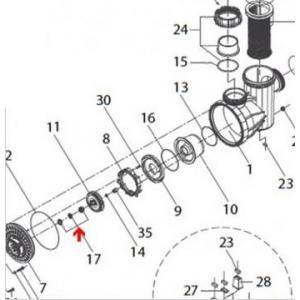 Procopi 521052 - Garniture mécanique Ø20 mm de pompe Eurostar I et II 150 à 400