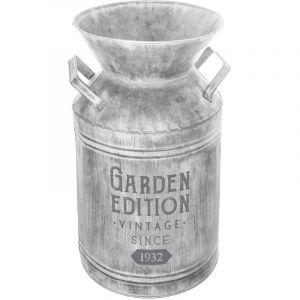 """Pot à Lait Déco en Métal """"Garden"""" 37cm Gris Prix"""