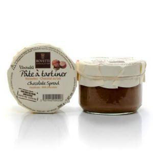 Bovetti Artisan Chocolatier Pâte à Tartiner véritable Chocolat au Lait et Noisettes, sans huile de palme ni gluten
