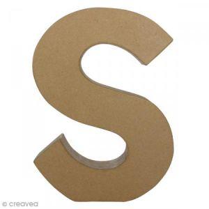 decopatch AC412O - Lettre S fantaisie majuscule, en papier mâché
